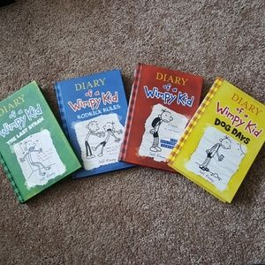 4 Books. Diary of a Wimpy Kid by Jeff Kinney
